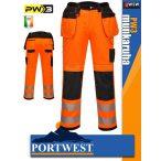 Portwest PW3 ORANGE jólláthatósági derekas munkanadrág - munkaruha