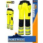Portwest PW3 YELLOW jólláthatósági derekas munkanadrág - munkaruha