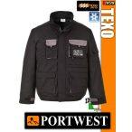 Portwest TEXO BLACK bélelt télikabát - munkaruha